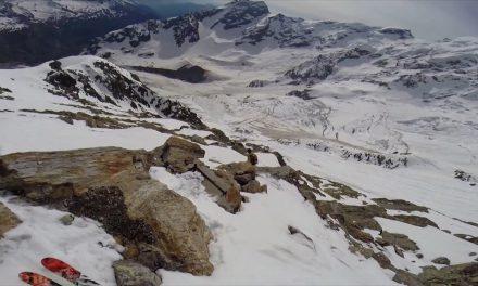 Couloir Marinelli en ski face est de la Zumsteinspitze