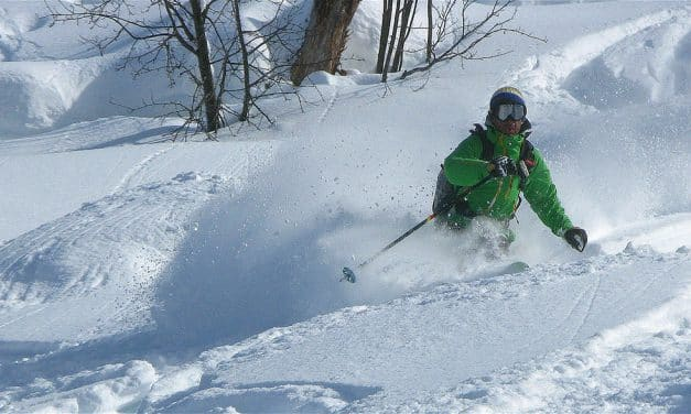 Arêche en Beaufort / Grand ski et grosse neige