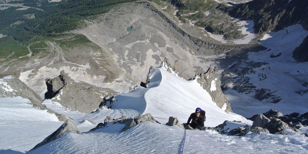 Éperon Frendo face nord Aiguille du Midi
