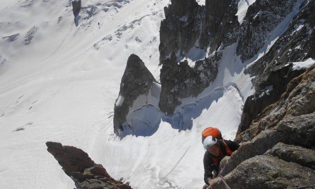 Pilier Gervasutti face Est du Mont-Blanc du Tacul