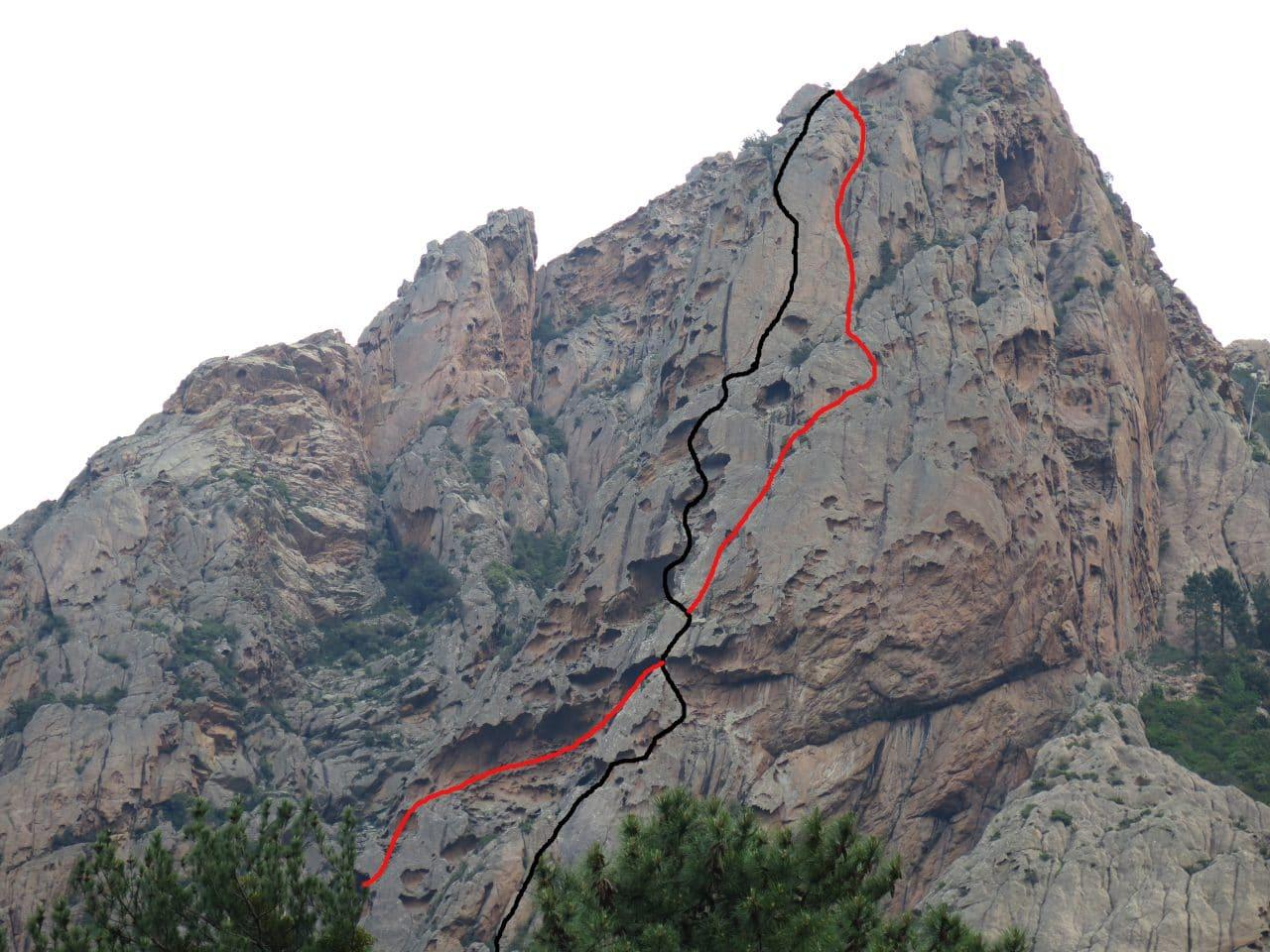 Topo-Omerta-UHaddad-Bavella-Escalade-Corse-Helyum-xavier-silvana-Carrard