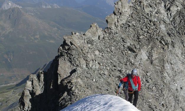 Valais: arête Tseudet au Mont Vélan