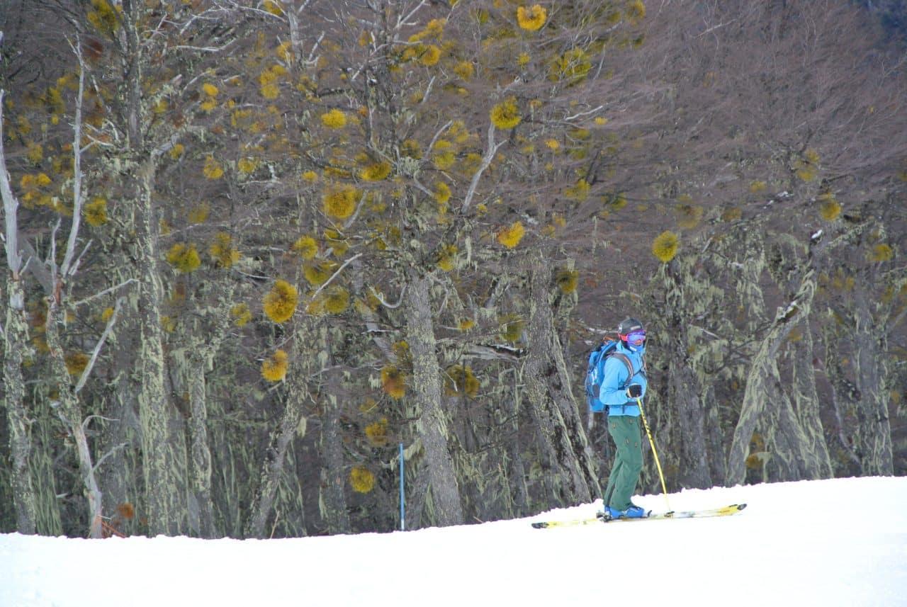Ski à Perito Moreno au dessus de El Bolson en Patagonie Argentine