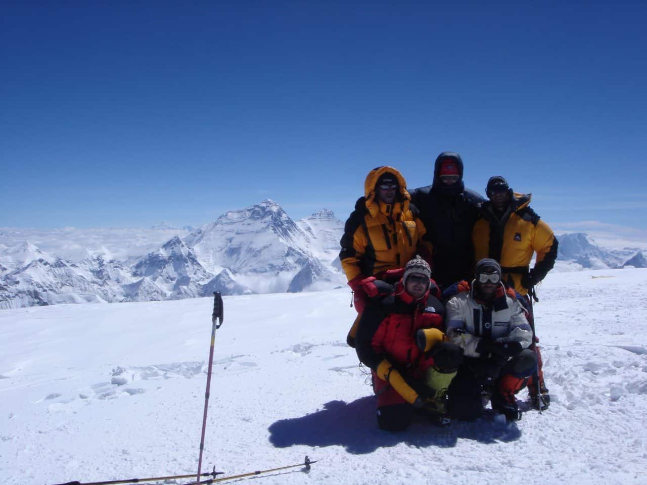 Toute l'équipe au sommet du Cho Oyu