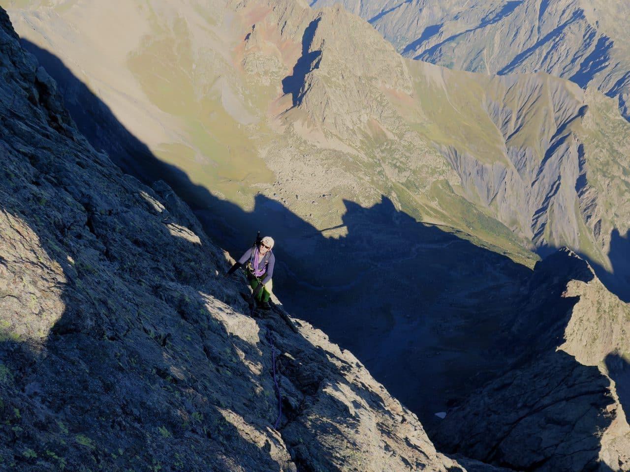 arête nord du Sirac, ambiance alpine