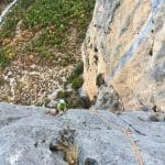 Escalade dans les gorges du Verdon