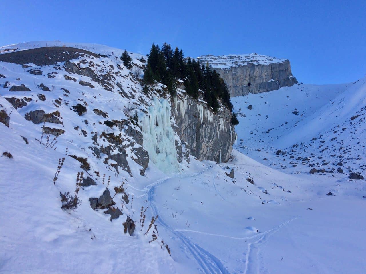 Cascade de glace, Leysin