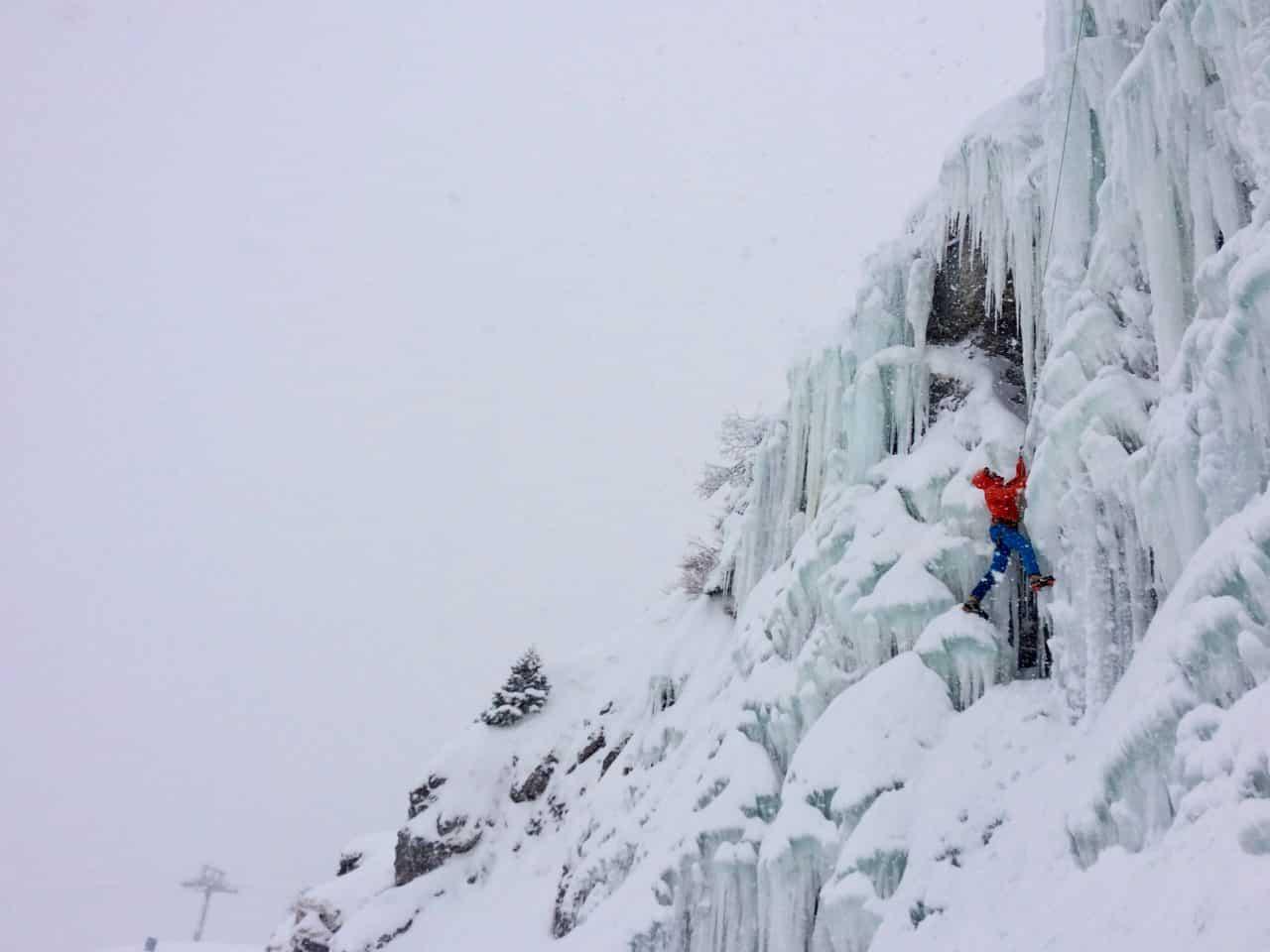 Cascade de glace de Mayen