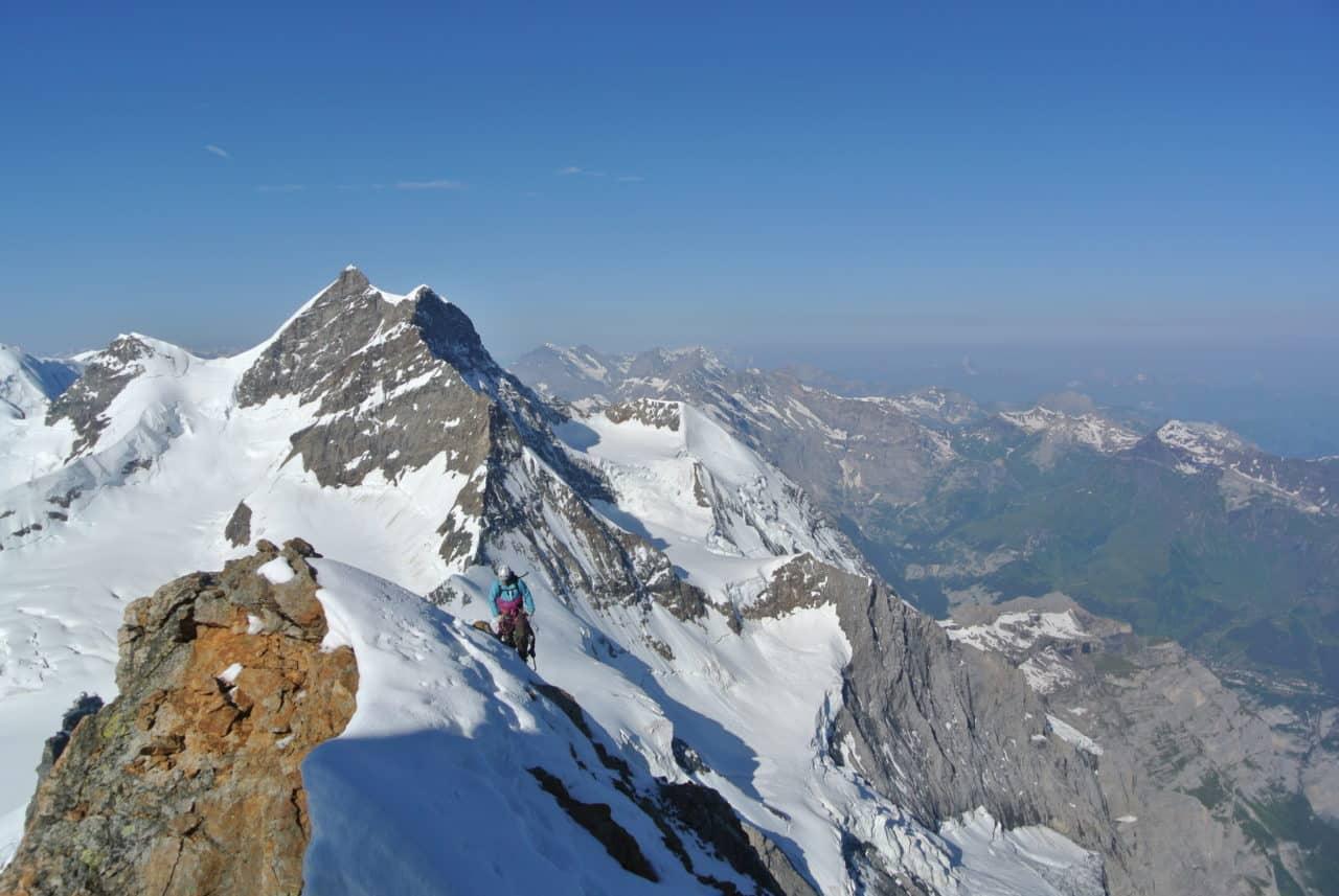 Face nord du Monch, sortie au sommet