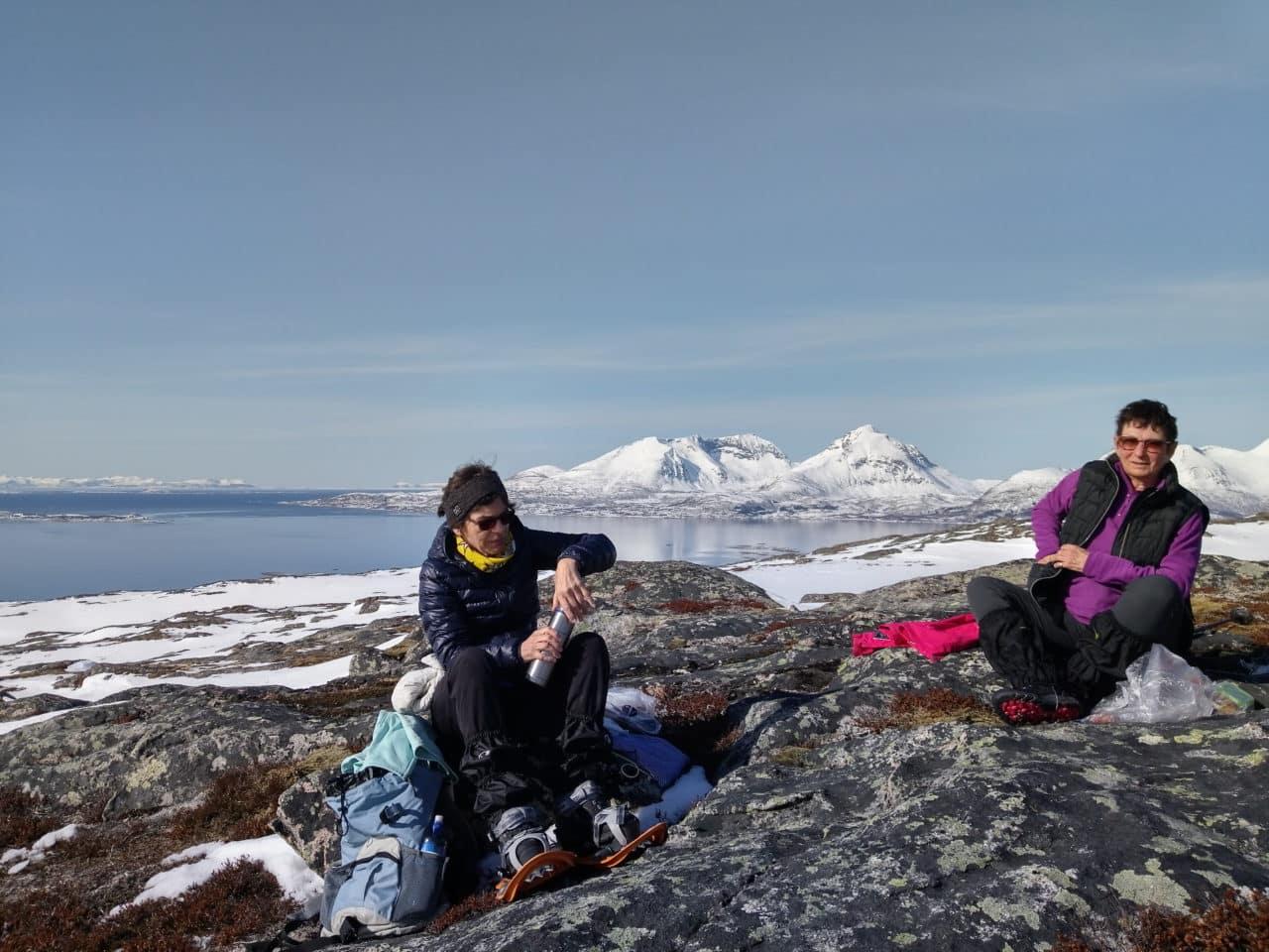Stangnesfjellet, extreme sud de l'île avec Silvana Carrard, accompagnatrice chez Helyum.ch
