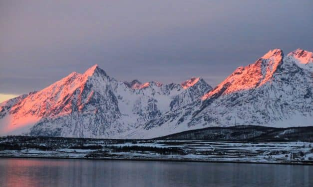 Norvège, ski‐bateau au 70e parallèle
