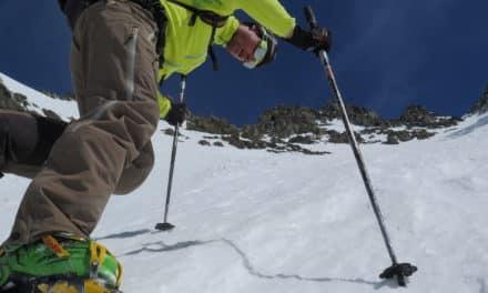 Vélan, couloir en Yà ski