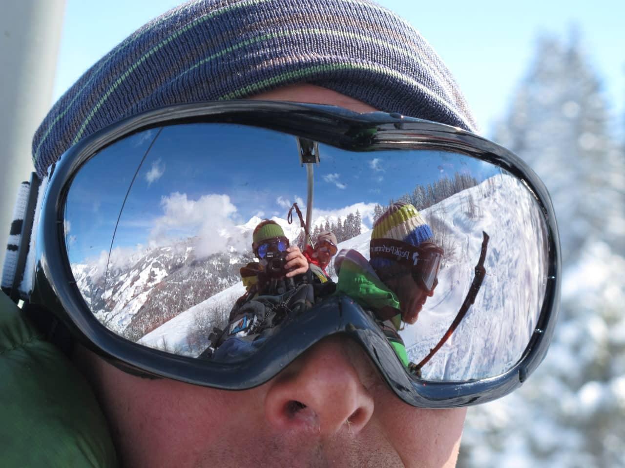 regard lunette de ski