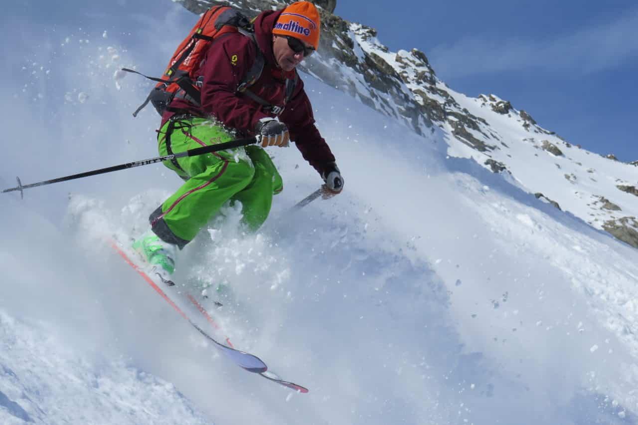 Yvan ski la Grave