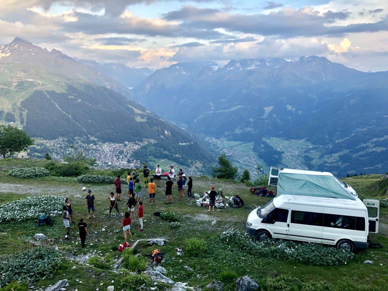 La Cordée 2018 camp d'alpinisme avec Yann Nussbaumer guide chez Helyum