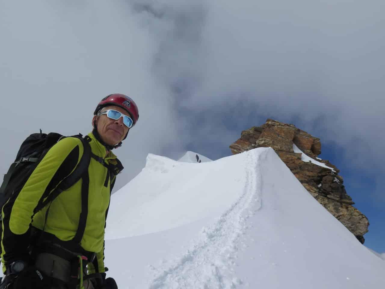Les 4000 du mont rose. descente de Parotspitze
