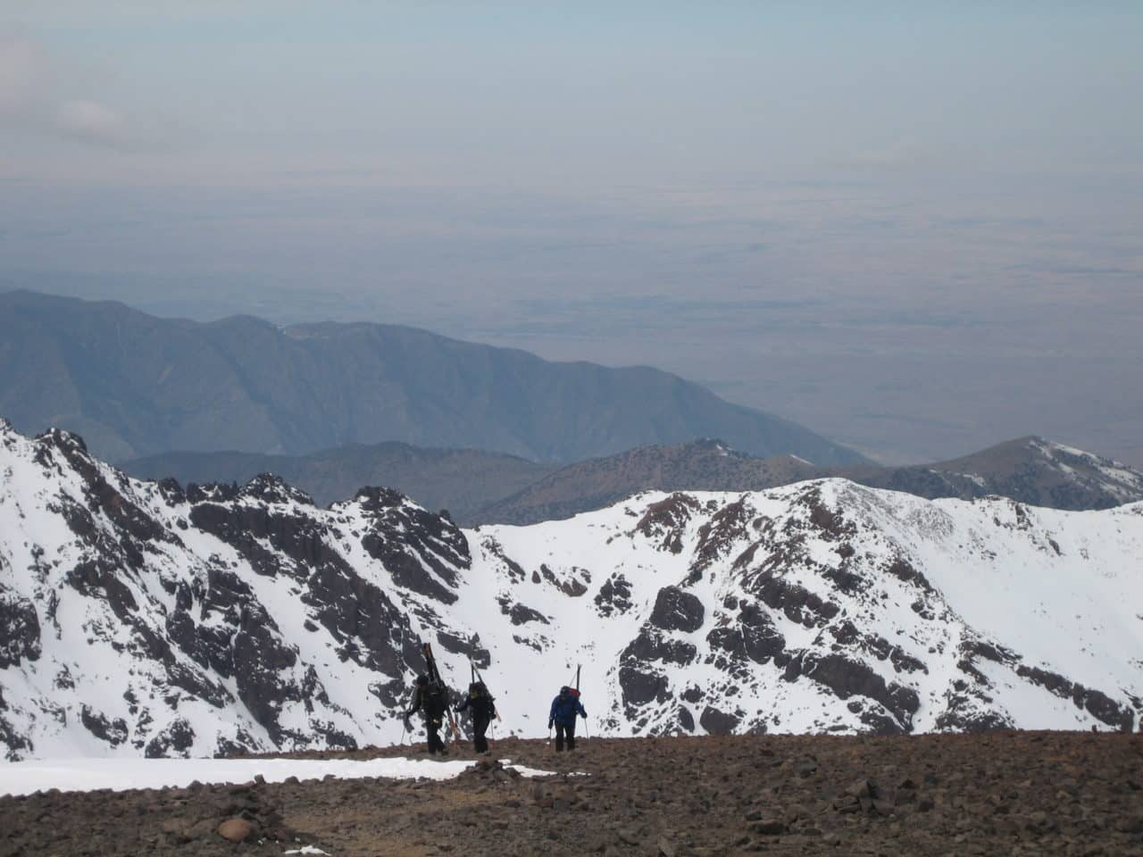 Ski au Maroc. toubkal