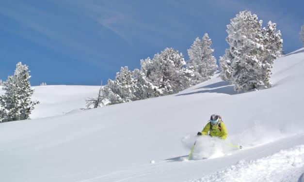 Espagne, Pyrénées : Baquiera, skier dans le grand blanc