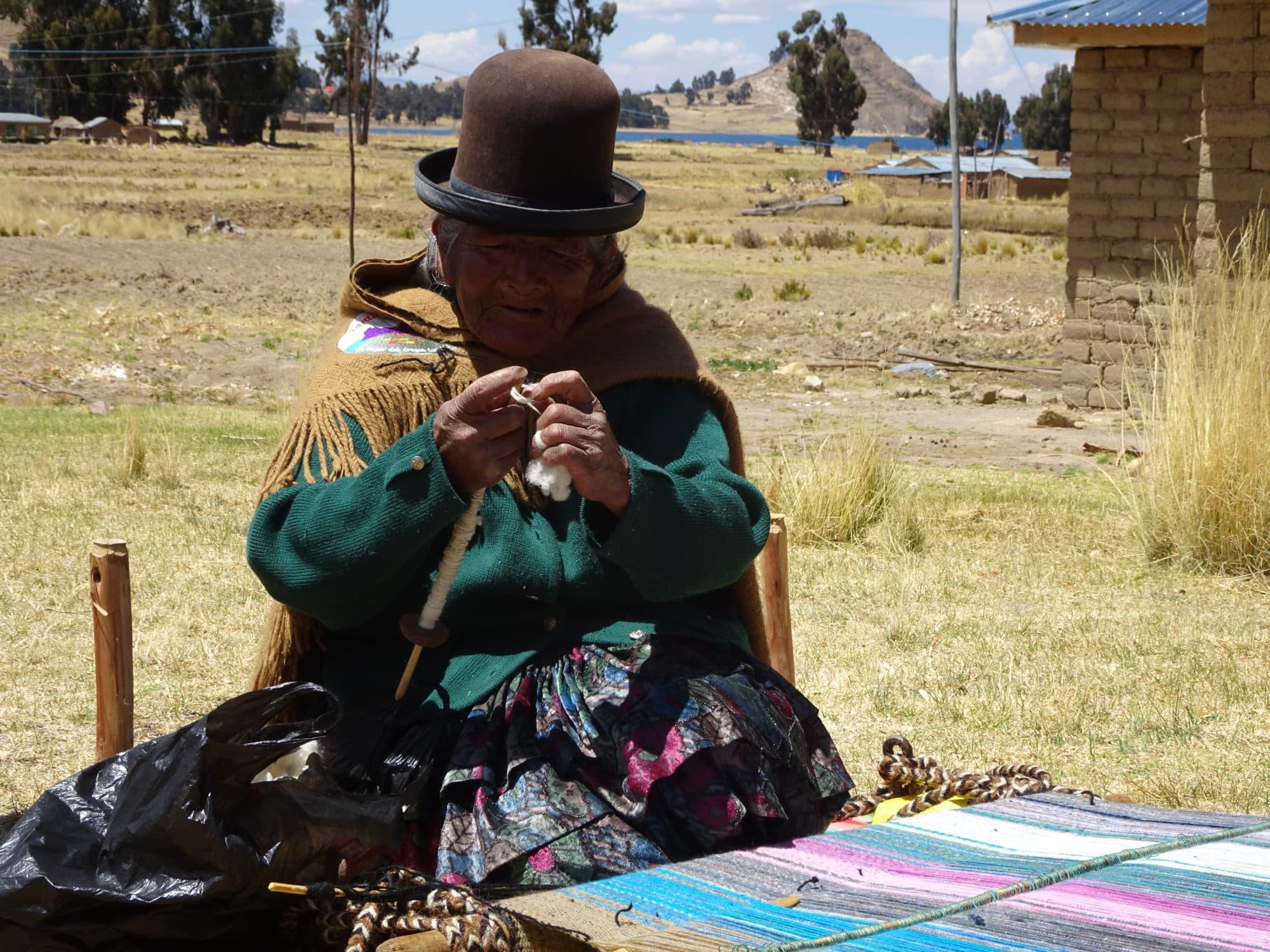 Bolivie, metier à tisser