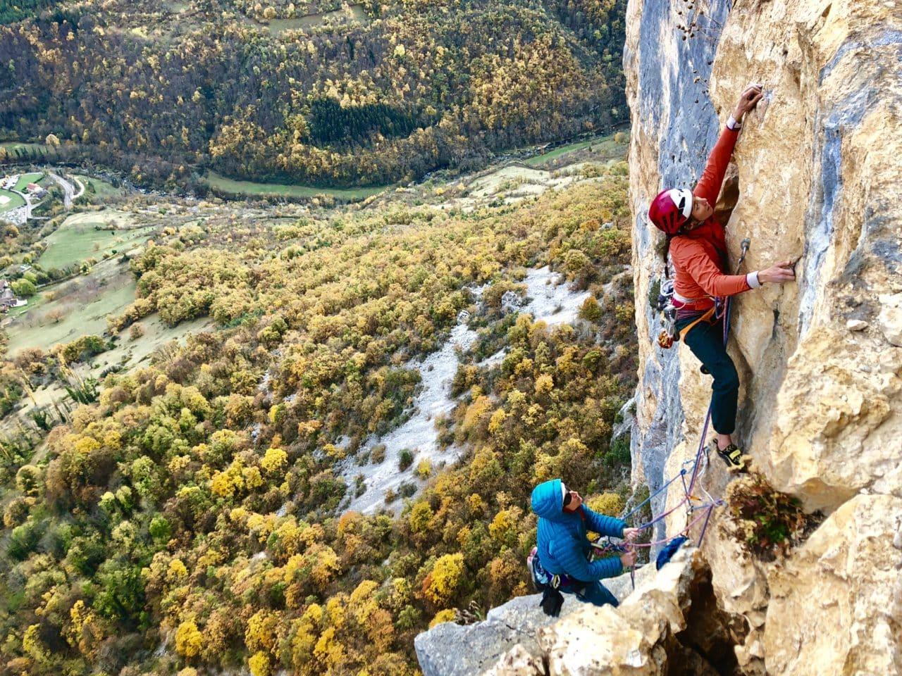 Escalade de longues voies à Presles Vercors avec Yann Nussbaumer