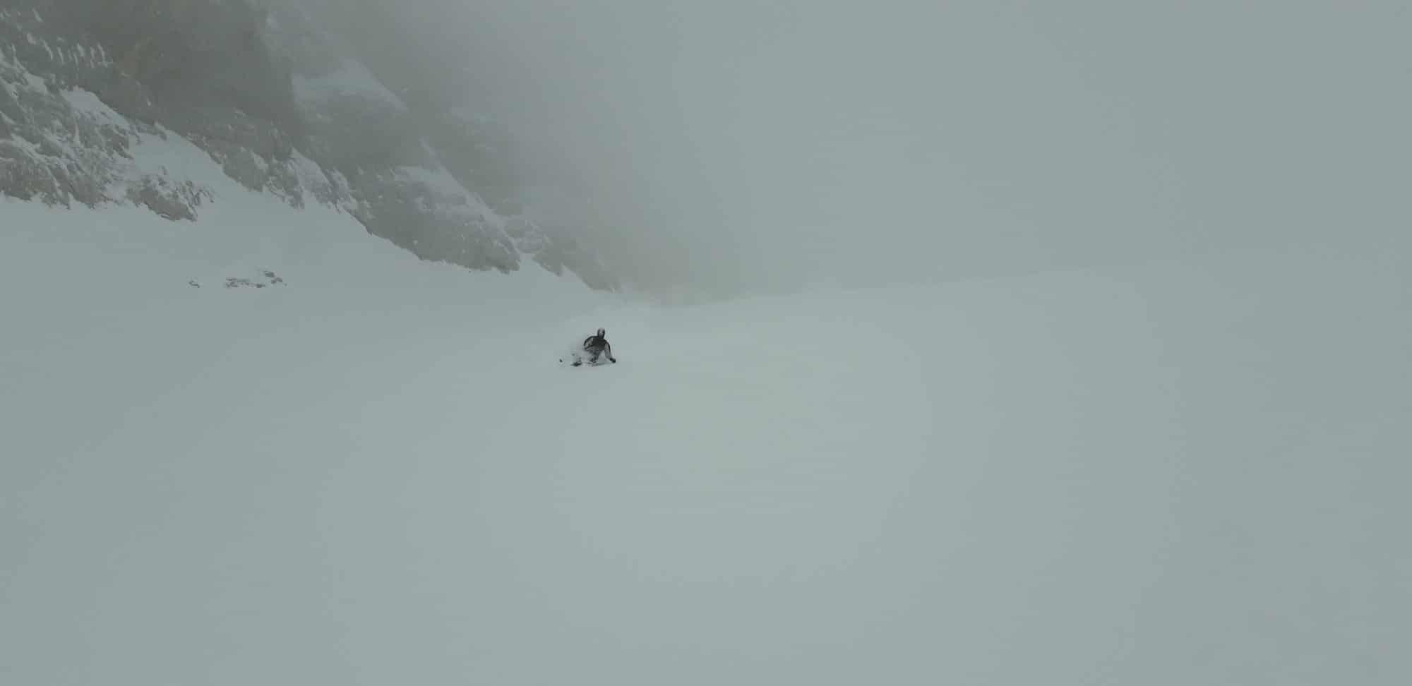 Col du Rasoir, Xavier skie