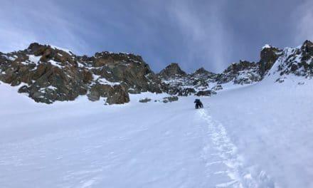 Le couloir Piaget en face Nord‐Ouest du Pic des Agneaux