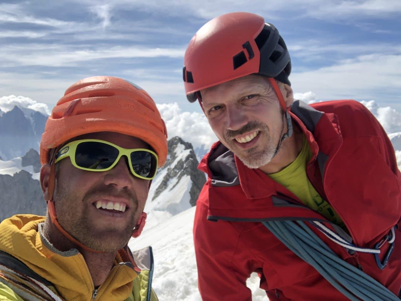 Traversée Rochefort - Jorasses avec Jérôme Gottofrey guide de montagne chez Helyum