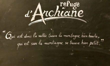 """La """"Paroi Rouge"""" à Archiane"""