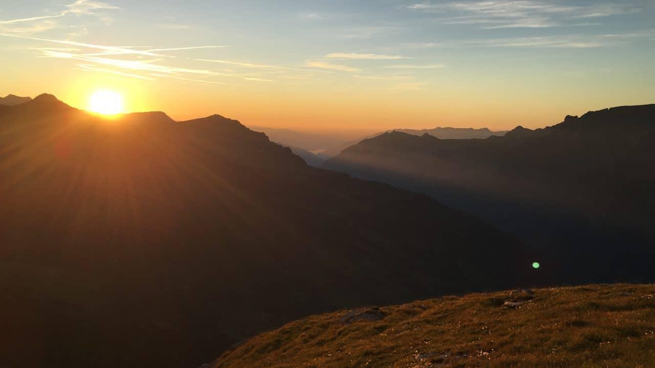 Coucher de soleil depuis Ostegghütte