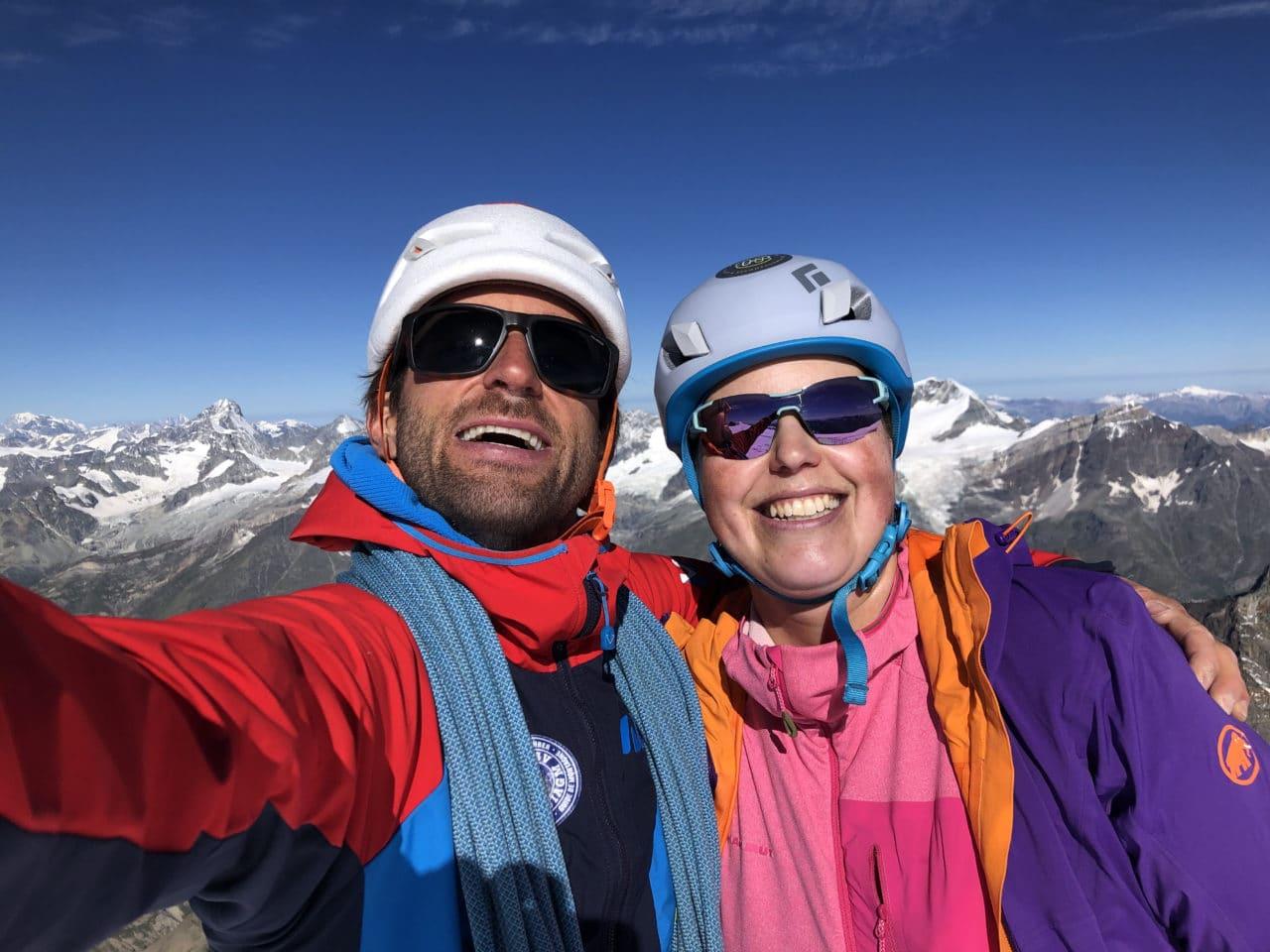 Eisnase et voie normale à l'Alphubel avec Yann Nussbaumer Guide de montagne chez Helyum