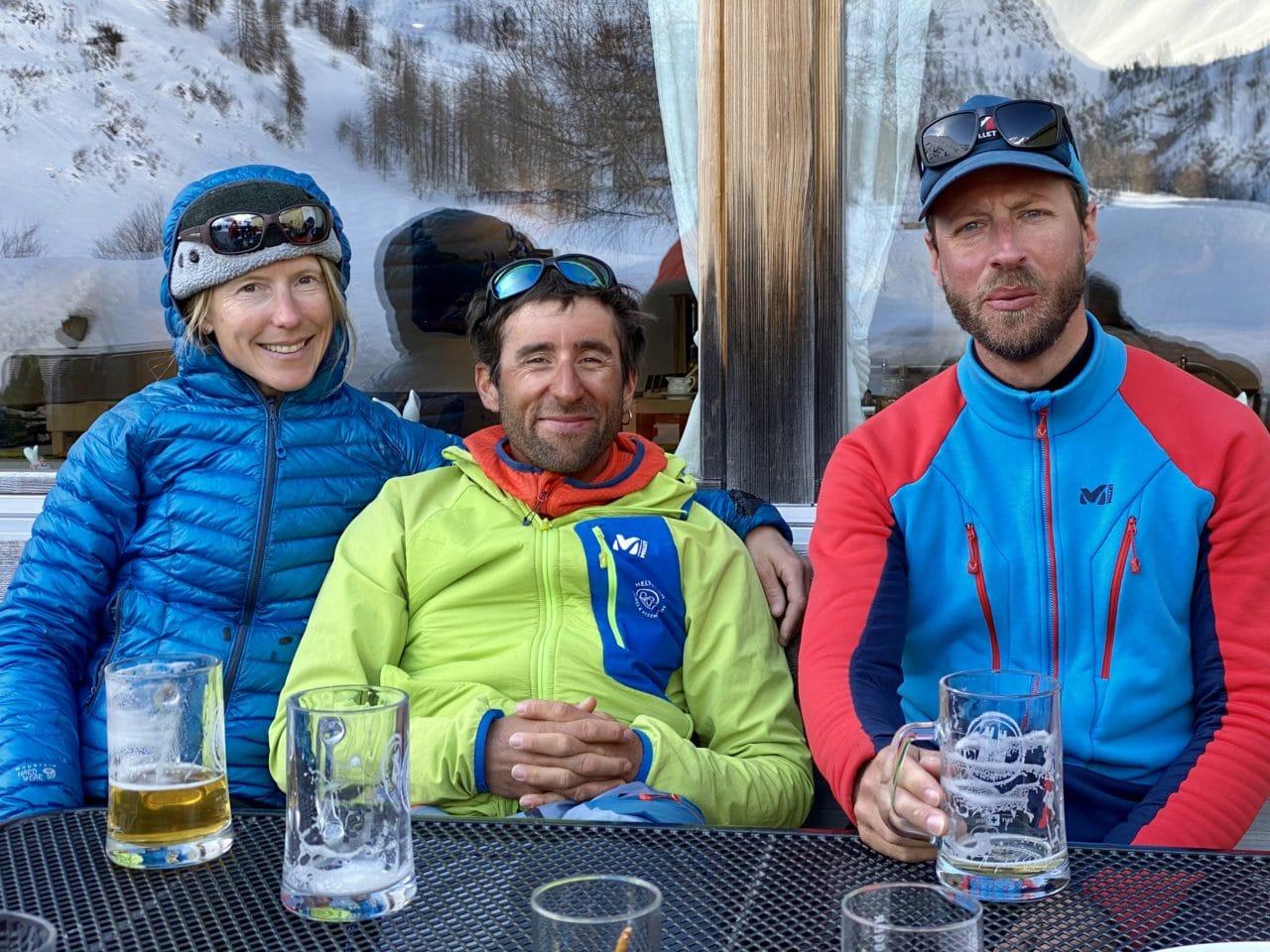 Ski de randonnée aux Grisons à Sertig avec Yann Nussbaumer guide de montagne chez Helyum