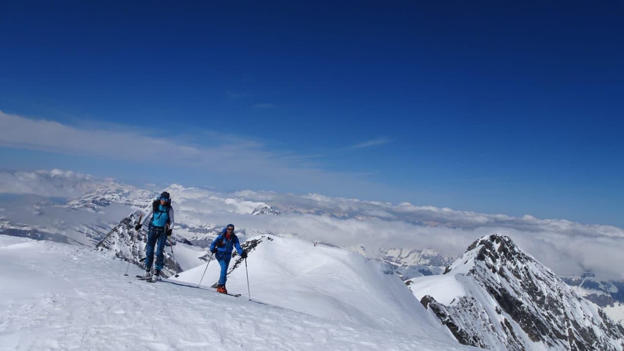 sommet du Balmhorn en avril 2021. Helyum.ch