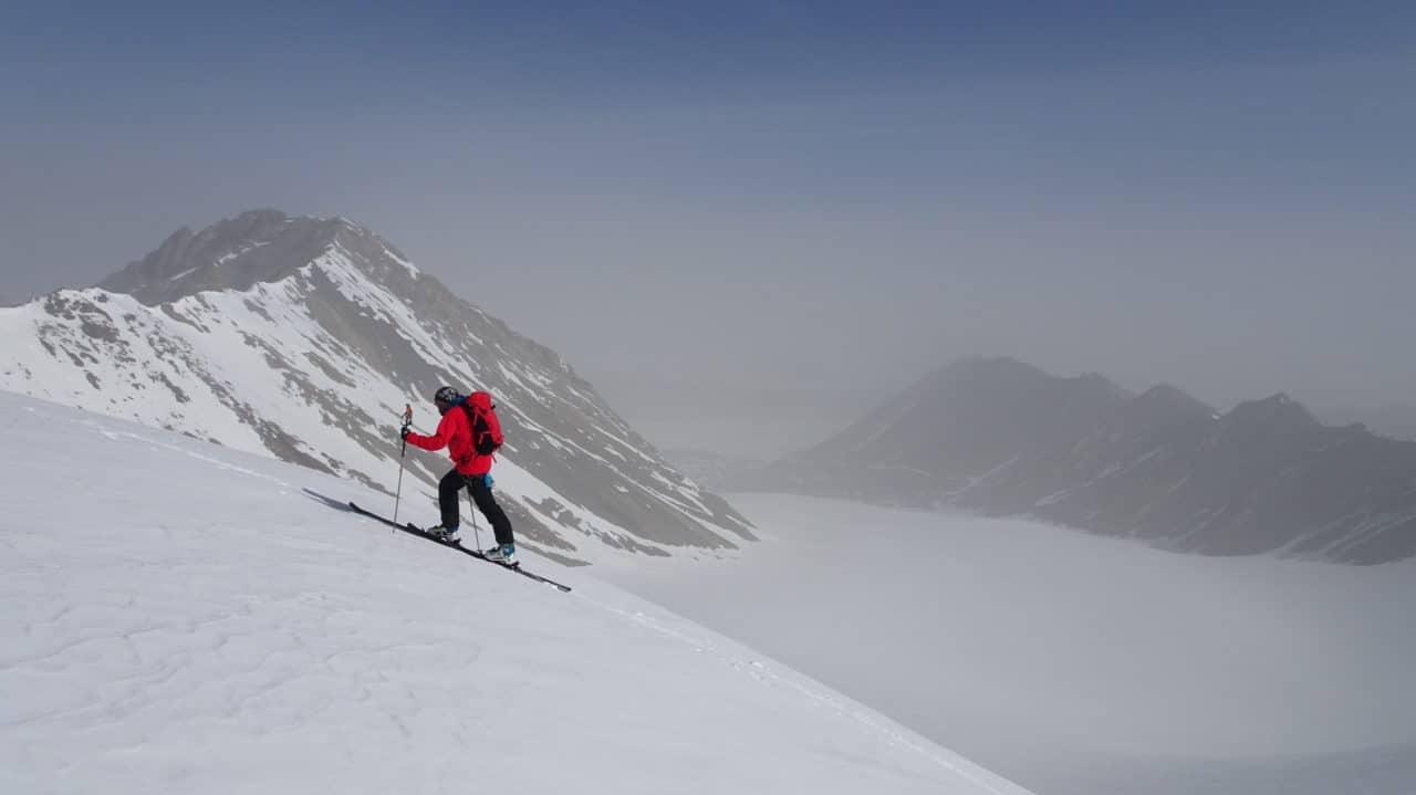 Fred sous le sommet du second jour. Kirghistan. helyum.ch