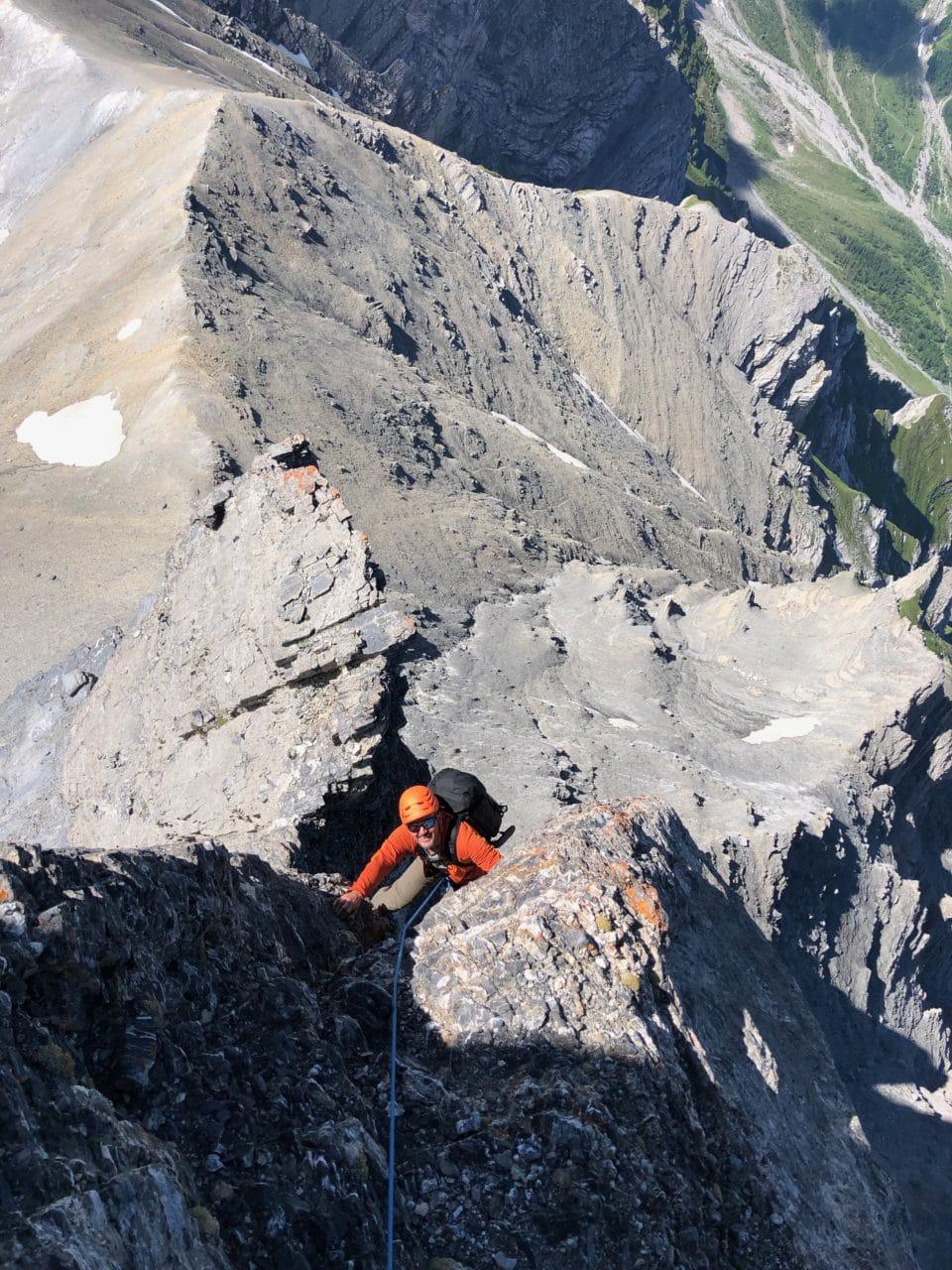 Frête de saille avec Jérôme Gottofrey guide de montagne chez Helyum